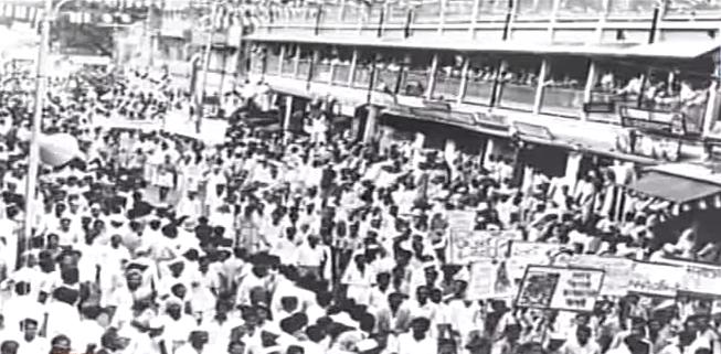 1985 के गुजरात आंदोलनों की एक दुर्लभ तस्वीर