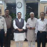 Pakistani Hindu Doctors' Delegate with JP Nadda