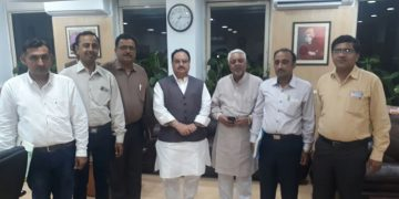 Pakistani Hindu Doctors' Delegate with JP Nadda