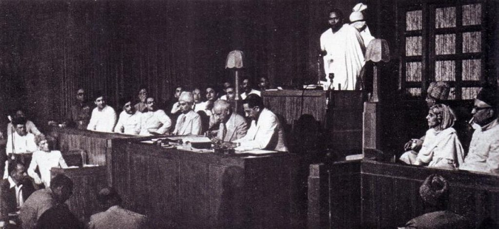 Jogendranath Mandal in the Pakistan assembly
